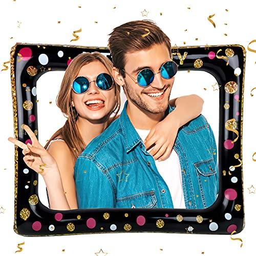Portafoto Gonfiabile,Selfie Frame Gonfiabile Selfie Frame Party Fun Photo Booth Puntelli Rifornimenti del Partito per Matrimonio,Baby Shower,Compleanno,Cornice per Selfie di Natale
