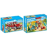 PLAYMOBIL Family Fun Coche Familiar, A Partir de 4 años (9421) + Family Fun Parque Infantil, a Partir de 4 Años (9423)