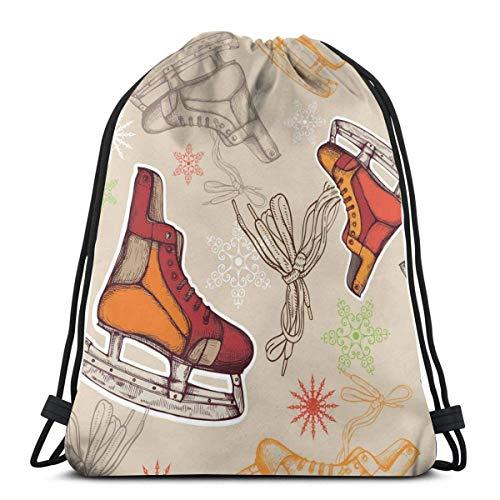 ARRISLIFE Kordelzug Trainer Tasche,Reisepaket Rucksack,Sporttasche,Schulrucksack,Schultertaschen,Skates String Rucksack