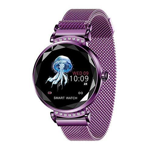 Smart Uhren für iPhones Android Smartwatch IP67 wasserdichte Fitness-Tracker Smart Armband Schlaf Herzfrequenz Kalorien Monitor Aktivitäts Armband für Frauen Männer Kind Lila