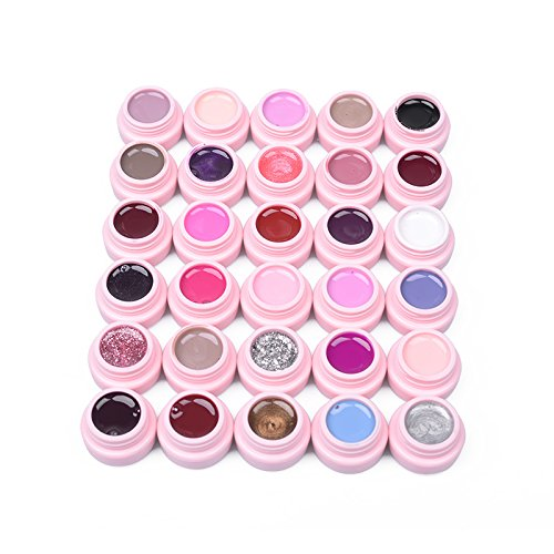 Set von 30 Farben Soak-off Uv LED Gelpoliermittel Base Top Nail Art Maniküre Kit Farben
