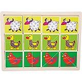 Small Foot- Puzle con Marco Animales Divertidos Puzzles Multicolor (1)