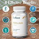Psyllium Husk Seed Powder Capsules, 240 Capsules - 725 mg per Serving, Made with Non-GMO & Gluten Free psyllium Husk - Soluble Fiber Supplement by LuRoot #2