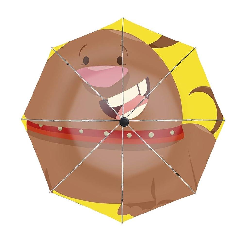 車誤って分岐する折りたたみ傘 日傘 UVカット 晴雨兼用 軽量 Dog Pet 防風傘 紫外線対策 スカイスター傘 ポータブル レディース