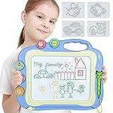 Ttmow pizarras infantil de dibujo magnética con pluma, almohadilla borrable de escritura y dibujo, juguetes educativos para 3 niños 4 años 5 años 6 años (azul)