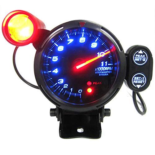 WonVon 12V Car Tachometer Gauge Kit,3.75 Inch Electronical RPM Tachometer Rev Counter Gauge 0-11000 RPM Auto Gauge with Shift Light