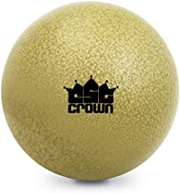 Crown Sporting Goods Shot Put, 12lbs (5.45kg) - Gold Cast Iron Weight Ball - Track & Field Equipment for Competitions, Practice, Strength Training, Fitness Gear, Outdoor Sports, Coaching for Athletes