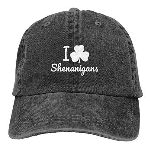 St Patricks Day Shamrock Dad Hat for Men Women Denim Baseball Cap Washed Plain Vintage Cotton Adjustable Polo Style