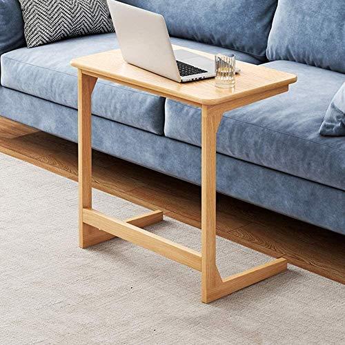 JISHIYU-Q - Tavolino da tavolo a forma di L, supporto per computer portatile, tavolino da caffè, tavolino per notebook accanto al letto, postazione di lavoro portatile, tavolo da lavoro da 60 x 65 cm