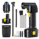 Air Compressor Cordless, Craftersmark Portable Tire Inflator, 150PSI Car Tire Pump with Rechargeable Battery, Air Pump for Car Tires with Digital Pressure Gauge, 12V Car Power Adapter for Car