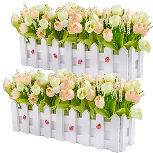 Plantas de flores artificiales - Rosas y capullos de rosa en