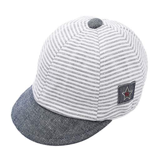 Foruhoo Basecap Baby Mädchen Verstellbar - Schildmütze für Kinder Kappe Trucker Hut Sonnenhut (Hellgrau,50)