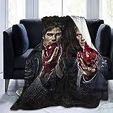 CFSD Vampire Diaries Throw Blanket Weight Warm Micro Fleece Blankets for Adults Kids 50'X40'