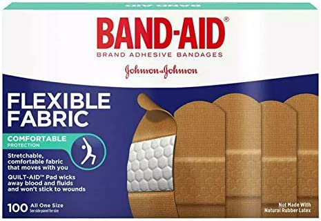 Band AID Flexible Fabric Adhesive Bandages 3 4 Inch X 3 Inches 100 ea Pack of 2 product image