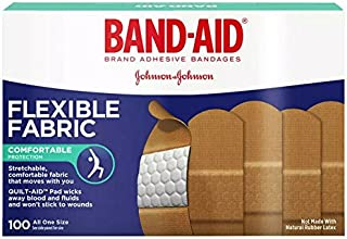 Band-Aid Brand Flexible Fabric Adhesive Bandages for Wound Care & First Aid, Assorted Sizes, 100 ct (Pack of 2)