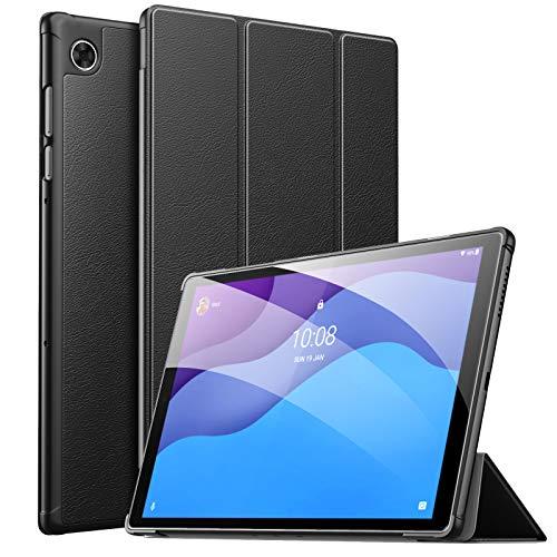 MoKo Funda Compatible con Lenovo Smart Tab M10 HD 2nd Gen/Tab M10 HD 2nd Gen, Ultra Slim Ligera Función de Soporte Protectora Plegable Smart Cover Cubierta Auto Sueño/Estela, Negro