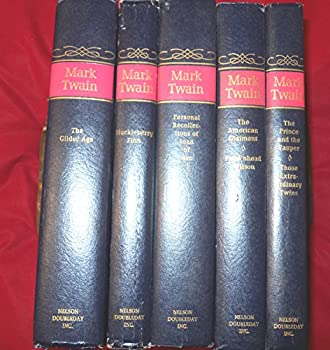 Hardcover Mark Twain 5 Vol. Set (Huckleberry Finn, Personal Recollections of Joan of Arc, The Prince and the Pauper Those Extraordinary Twins, Tom Swayer, The American Claimant Pudd'nhead Wilson) Book
