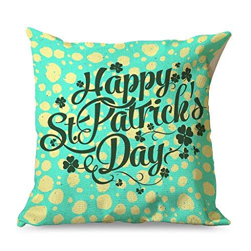 IOVEQG Happy St Patrick's Day Home - Fundas de almohada con cremallera para cama (45 x 45 cm), color blanco