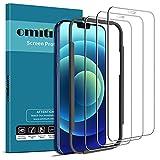 omitium Vetro Temperato Compatibile con iPhone 12/12 pro (6,1''), Copertura Completa Pellicola Protettiva Compatibile con iPhone 12 pro Strumento Installazione Facile 9H Durezza Protezione Schermo