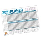 itenga Urlaubsplaner 2021 Wandkalender abwischbar DIN A1 (84,1 x59,4 cm) 250g/m² Personalplaner Mitarbeiter