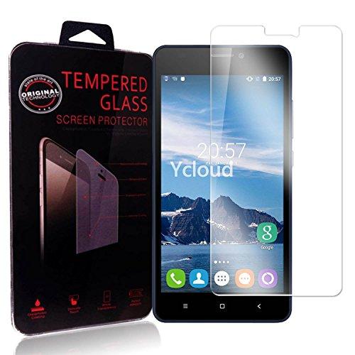 Ycloud Panzerglas Folie Schutzfolie Bildschirmschutzfolie für Oukitel C3 screen protector mit Festigkeitgrad 9H, 0,26mm Ultra-Dünn, Abger&ete Kanten