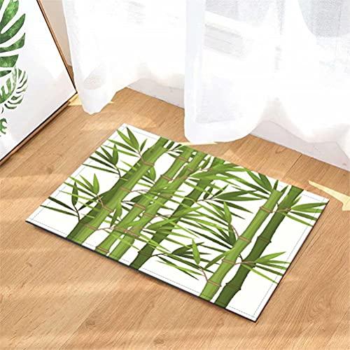 YjkAJuQeP Bambú. Alfombra del Piso: 40 X 60 Cm. Tapetes De Baño, Alfombras, Tapetes De Cocina para Puertas De Entrada Y Tapetes De Cachemir Antideslizantes Impresos En 3D.