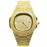 EREMITI JEWELS Orologio da Polso Unisex Total Zircon Colore Oro Argento O Nero Unisex Watch with...