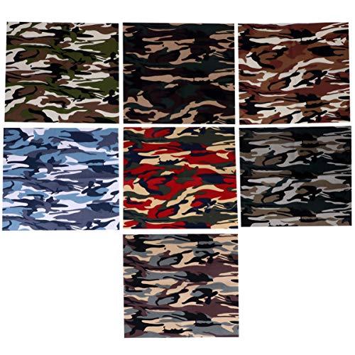 EXCEART 7 Piezas de Tela Patchwork Hojas de Camuflaje Paquete de Tela Cuadrados Precortados Edredón Cuartos Diy Costura Arte Artesanía Haciendo 25X25 Cm