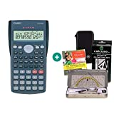 Casio FX-82MS + Funda protectora SafeCase + Kit de geometría + CD de aprendizaje CALCUSO (en alemán)