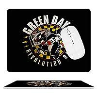 マウスパッド レザー デスクマット グリーンデイ まうすぱっど PCマット ゲーミングマウスパッド キーボードパッド おしゃれ 防水 滑り止め 革製 オフィス ゲーム かわいい 大型 耐久性が良い 20.5*25.5cm