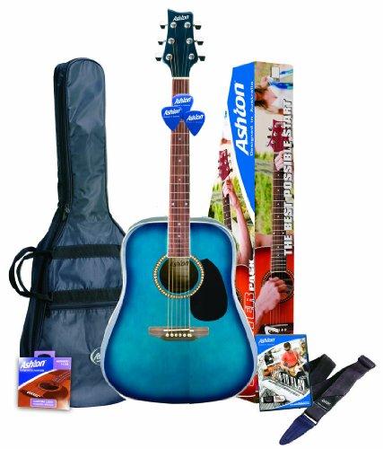 Ashton D25BK - Guitarra acústica, color Negro (Black)