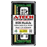 A-Tech 8GB DDR4 2400MHz SODIMM PC4-19200 2Rx8 Dual Rank 260-Pin CL17 1.2V Non-ECC Unbuffered Notebook Laptop RAM Memory Upgrade Module