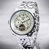 HWCOO Hermoso reloj mecánico 212 ganador JARGAR hueco de acero de doble reloj de los hombres del calendario reloj mecánico (Color : 2)