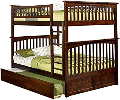 Amazoncom Donco Bunk Bed Full Over Full Trundle In Cappuccino