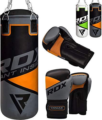 RDX Kids Punching Bag UNFILLED Set Junior Kick Boxing 2FT Heavy MMA Training Youth Gloves Punching...