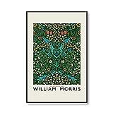 Exposición de arte de pared de flores de William Morris, carteles impresos e impresiones, patrón de hojas, lienzo sin marco familiar, pintura n. ° 2, 30x40cm