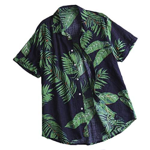 TEBAISE Hawaii Hemd + Badeshorts Herren Badehose Sommer Bermuda Shorts 3D Druck Schnell Trocknend Hawaii Surf Schwimmhose Sporthose Badehosen Freizeit Short Schnelltrocknend Badeshorts für Männer