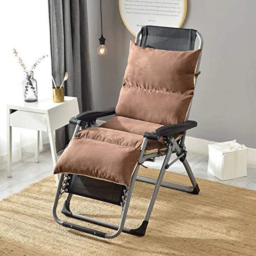 ZCXBHD Rugleuning Zitkussen van wildleer, afneembare jas, ligstoel, warmte, ademend, absorberend, draagbaar, ligstoelen voor reizen, vakantie, binnen en buiten