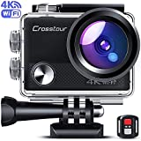 Crosstour Upgraded 4K 20MP Action Camera Cycling with WiFi LDC Remote Control Sports Camera 40M Waterproof...