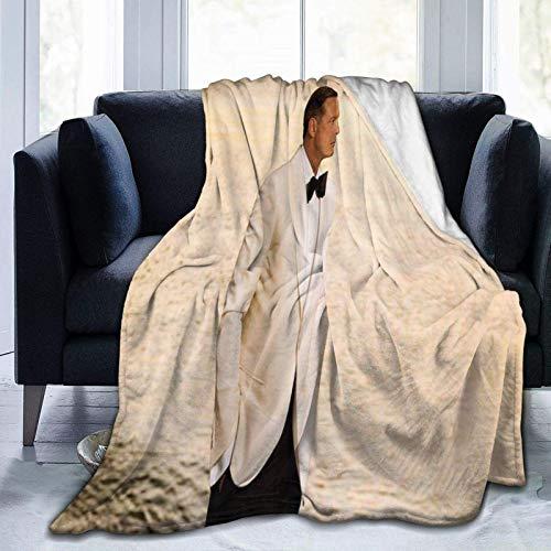 Luis Miguel Mantas Estereoscópicas de Micro Fleece Manta, para sala de estar, dormitorio, decoración del hogar de 156 x 150 cm