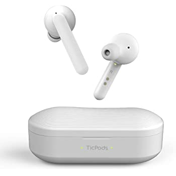 Mobvoi TicPods Free True Wireless Bluetooth Earbuds with Charging Case, Water Resistant, Clear Crisp Audio in Both Ears, Clear Crisp Audio, Noise Isolating - Ice