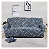WXJ Cubierta Colorida geométrica del sofá de la impresión Cubierta elástica de la Cubierta del sofá Anti-Sucio Sofá de la Toalla de la Cubierta del sofá (Color : 17, Specification : 3 Seat 190 230CM)