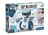 Clementoni- Science Robotics-Cyber Talk - Robot para niños, Juego Educativo y científico, Stem, Fabricado en Italia, 8 años y más, 52415