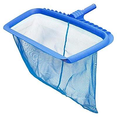 U.S. Pool Supply Professional Heavy Duty Pool Leaf Rake with Deep Net Bag - Fits Standard Swimming Pool Poles