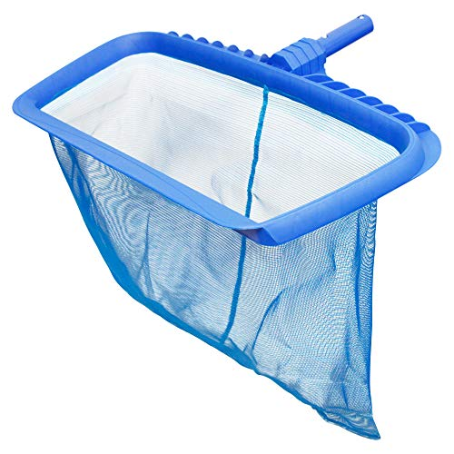 "U.S. Pool Supply Professional Heavy Duty 20"" Swimming Pool Leaf Rake with Deep 16"" Net Bag - Fine Mesh Netting, Easy Scoop Edge - Fast Cleaning, Debris Pickup Removal, Fits Standard Swimming Pool Pole"