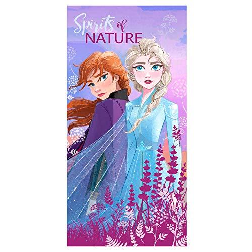 Disney Peppapig Frozen Lot de 2 Serviettes de Bain Multicolore