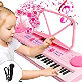 WOSTOO Kinder Keyboard, Multifunktions Digital Piano 61 Tasten Keyboard Set mit Mikrofon Notenständer Für Kinder Geschenk,ideal für...