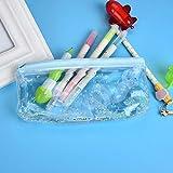 Gaddrt - Estuche para lápices, transparente, para la escuela, estudiantes, papelería, bolsa de almacenamiento, color F