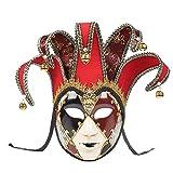 ホラーフルフェイスベネチアンジョーカーマスカレードシアターマスクマルディグラパーティーボールマスク 女装 コスチュームボール