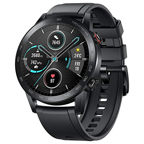 Original Huawei Honor Watch Magic Watch 2 Minos 46mm Smartwatch 1.39' AMOLED Always-on Display 5ATM 14days Battery Life with Mic(Sport Carbon Black)